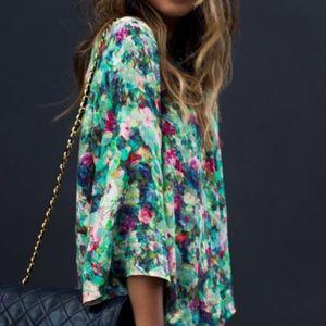 Sam & Lavi - Floral Drape Blouse